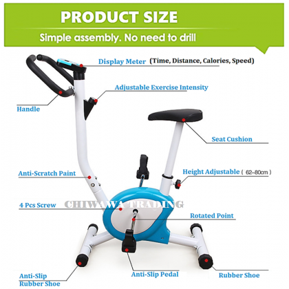 【FREE 】Lightweight Exercise Bicycle Fitness Spin Bike  Cycle Sport Gym Workout