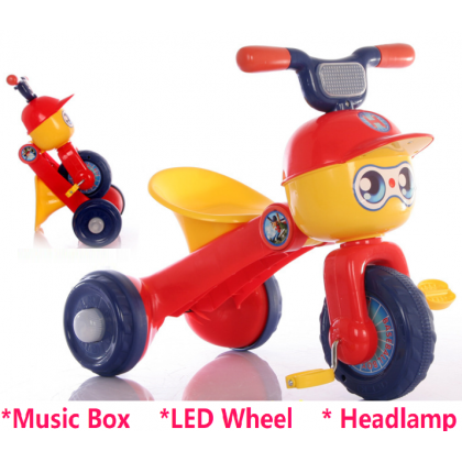 KIDA【Music + LED Light】Kids Scooter Motor Balance Bike Car Riding Toy Bicycle Tricycle Walker Stroller Trolley Carts