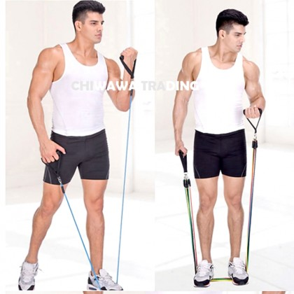 11 Pcs Exercise Resistance Bands Strength Training Pull Rope Stretcher Sports Fitness Gym Yoga Straps Pilates Tube
