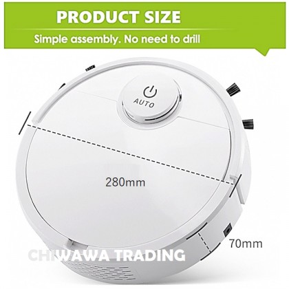 3 In 1 Rechargeable Smart Robotic Vacuum Anti Falling Mop Cleaner Auto Robot Sweeping Brushing Cleaning Floor Suction