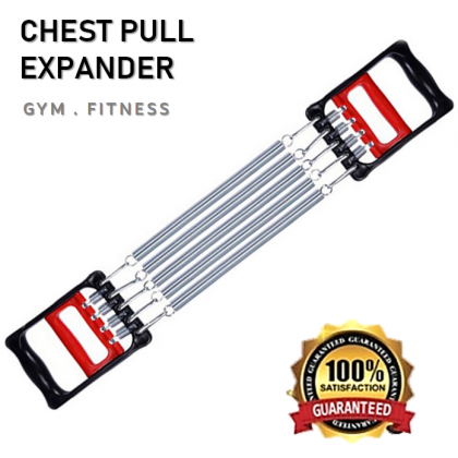 Chest Muscle Pull Expander Gym Exercise Fitness Hand Gripper Puller 5 Spring