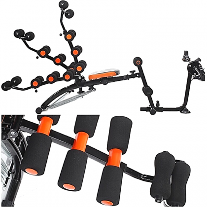 Six Pack Abs Gym Fitness Exercise Bench Sit Up Machine + Cycling Pedal Bike